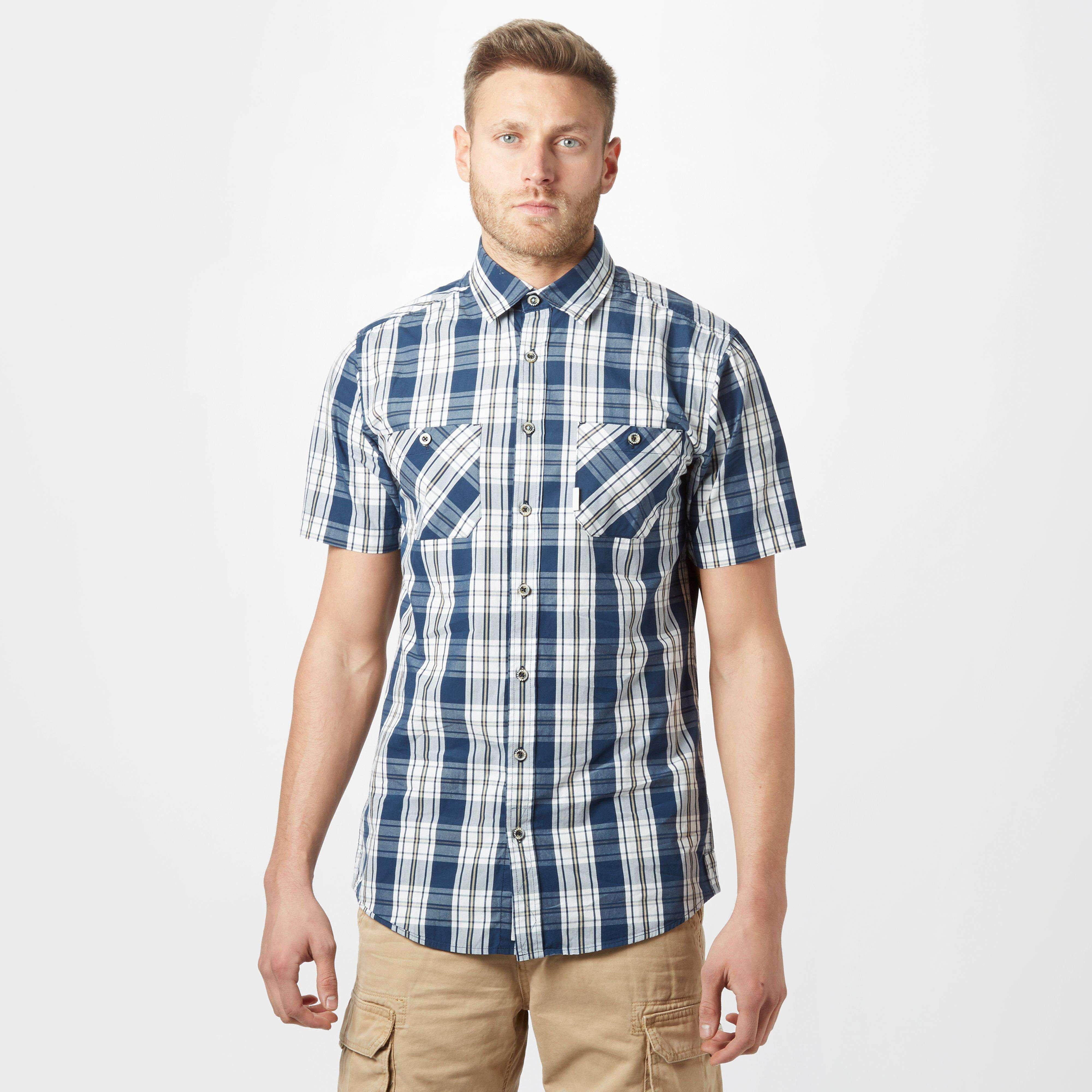 BRAKEBURN Men's Check Short Sleeve Shirt