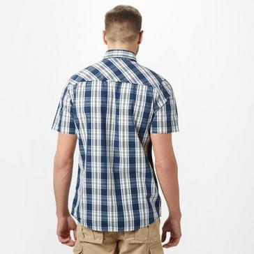 Navy Brakeburn Men's Check Short Sleeve Shirt
