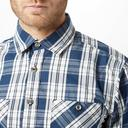 Blue Brakeburn Men's Check Short Sleeve Shirt image 4