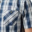Blue Brakeburn Men's Check Short Sleeve Shirt image 5