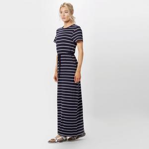 BRAKEBURN Women's Stripe Short Sleeve Maxi Dress