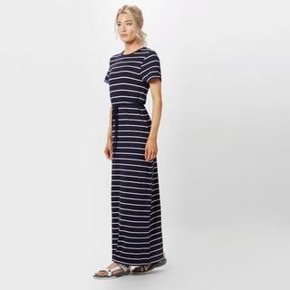 Women's Stripe Short Sleeve Maxi Dress