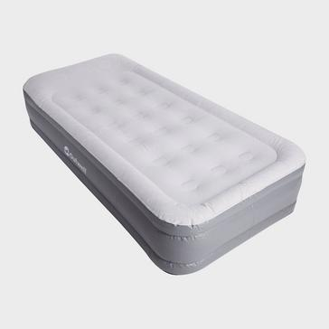 Grey|Grey Outwell Flock Superior Single Air Bed With Pump