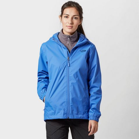 Light Blue THE NORTH FACE Women's Quest Waterproof Jacket ...