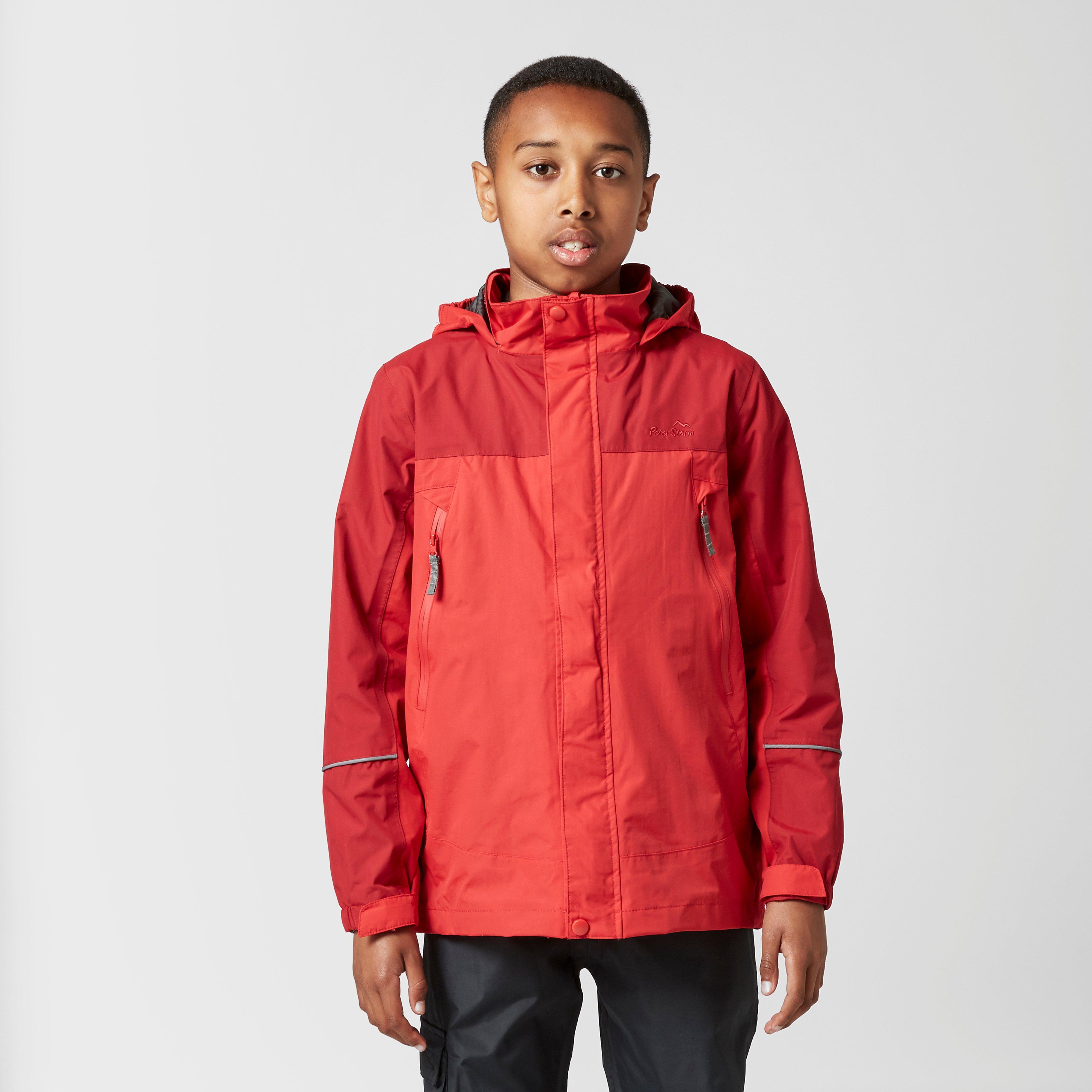 Peter Storm Kids' Mercury Waterproof Jacket - Red, Red