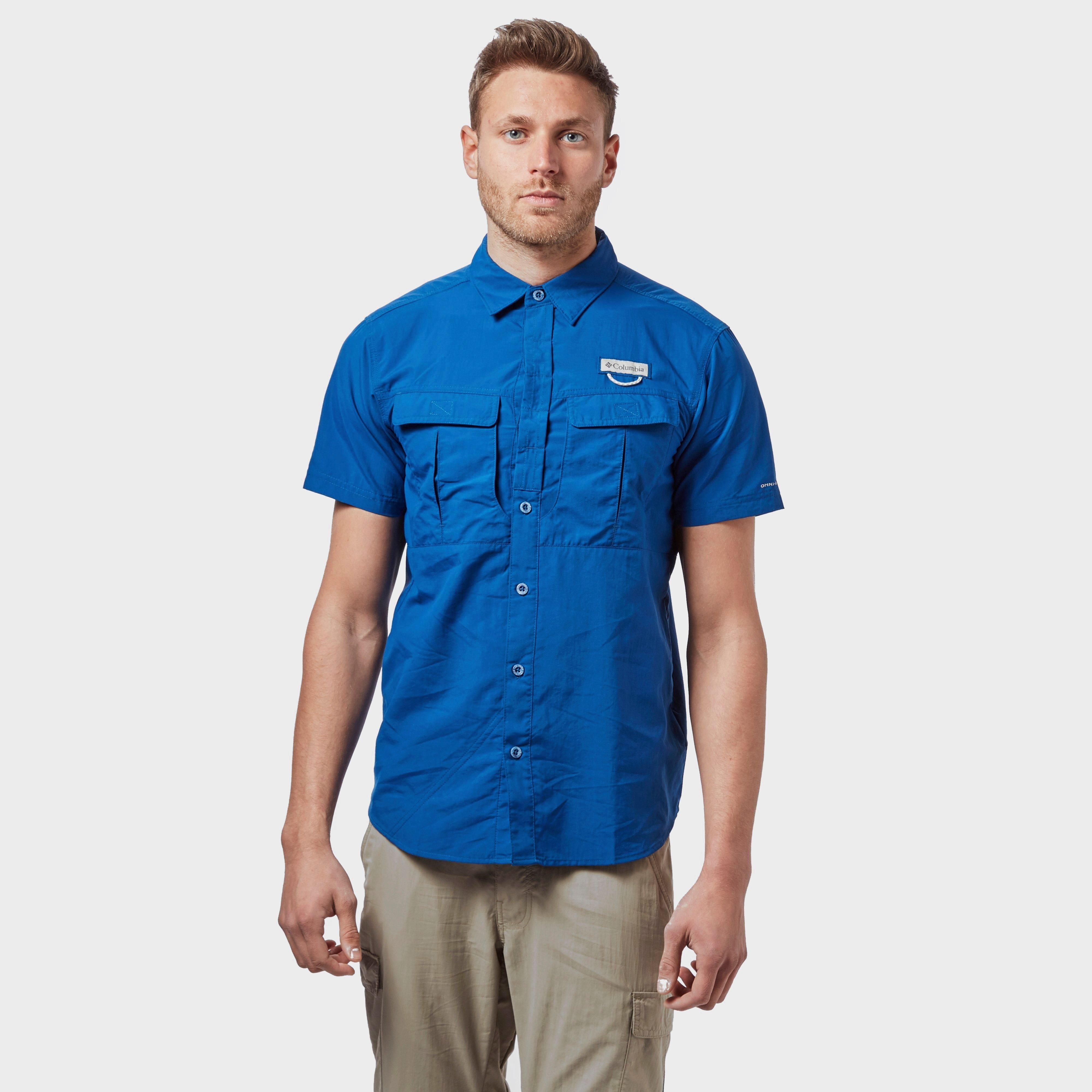 Columbia Columbia Mens Cascades Explorer Short Sleeve Shirt - Blue, Blue