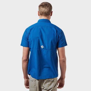 Blue Columbia Men's Cascades Explorer™ Short Sleeve Shirt
