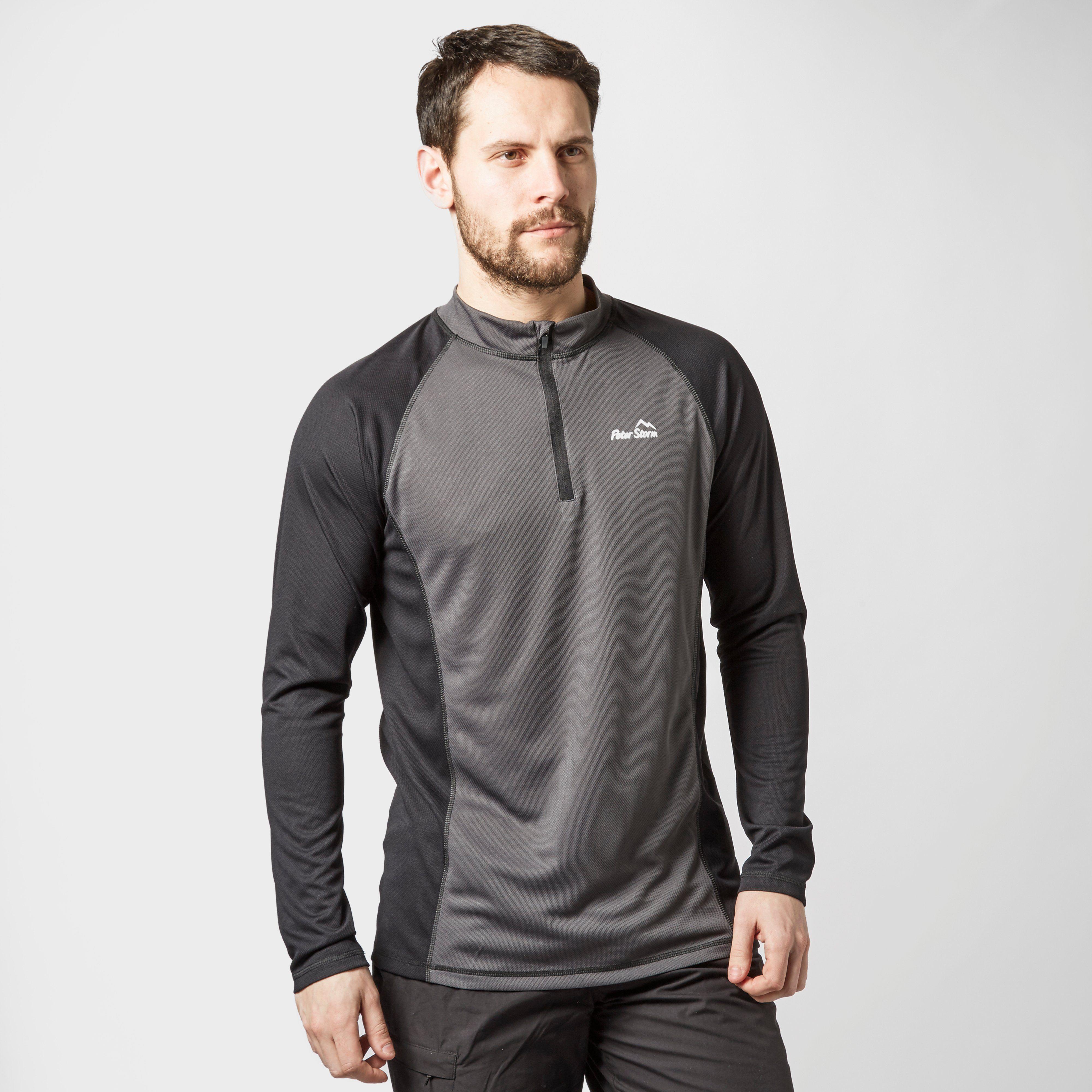 PETER STORM Men's Long Sleeve Zip Tech T-Shirt