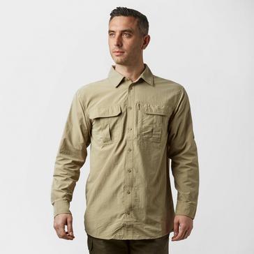 Beige Brasher Men's Travel Shirt