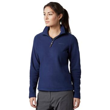 Blue Brasher Women's Bleaberry Half Zip Fleece