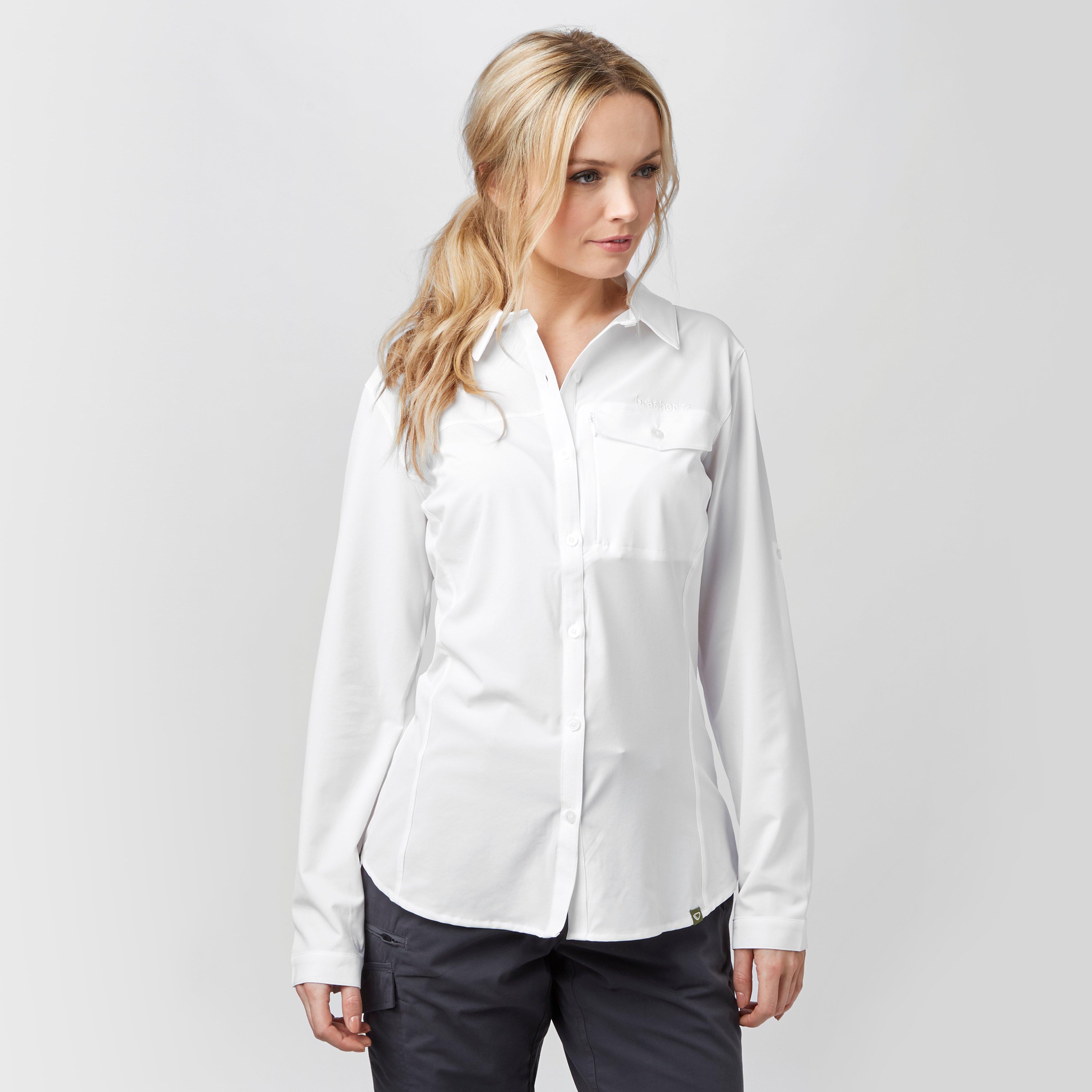 Brasher Brasher Womens Travel Shirt - White, White