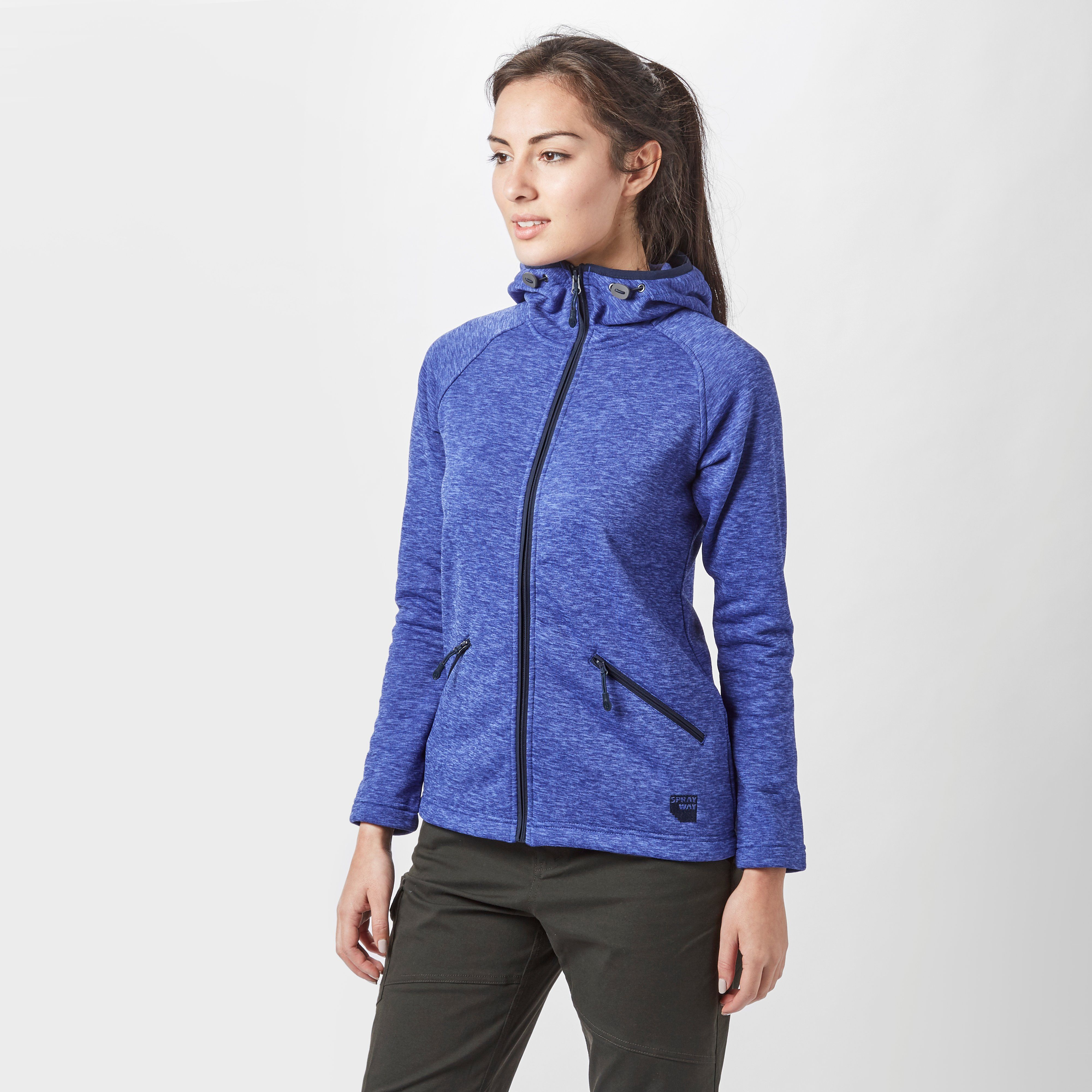 SPRAYWAY Women's Marble Full Zip Fleece Hoodie