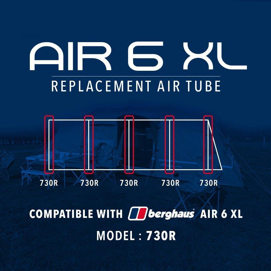 Air 6XL Replacement Air Tube - 730R  sc 1 st  Millets & Tent Poles | Tent Pole Sections u0026 Sets | Millets