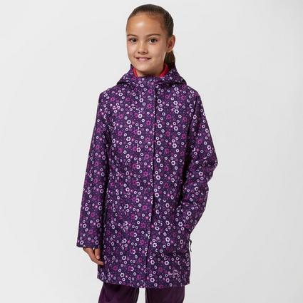 Girls' Waterproof Patterned Jacket
