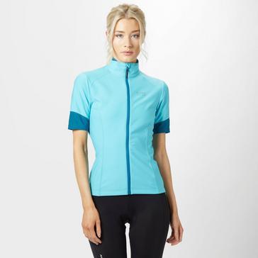 Light Blue Gore Women's Power GORE® WINDSTOPPER® Zip-Off Jersey