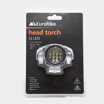 Black Eurohike 12 LED Head Torch