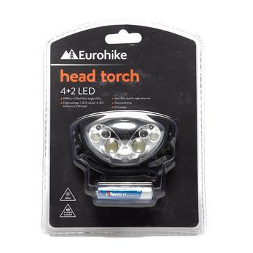 Black Eurohike 6 LED Head Torch