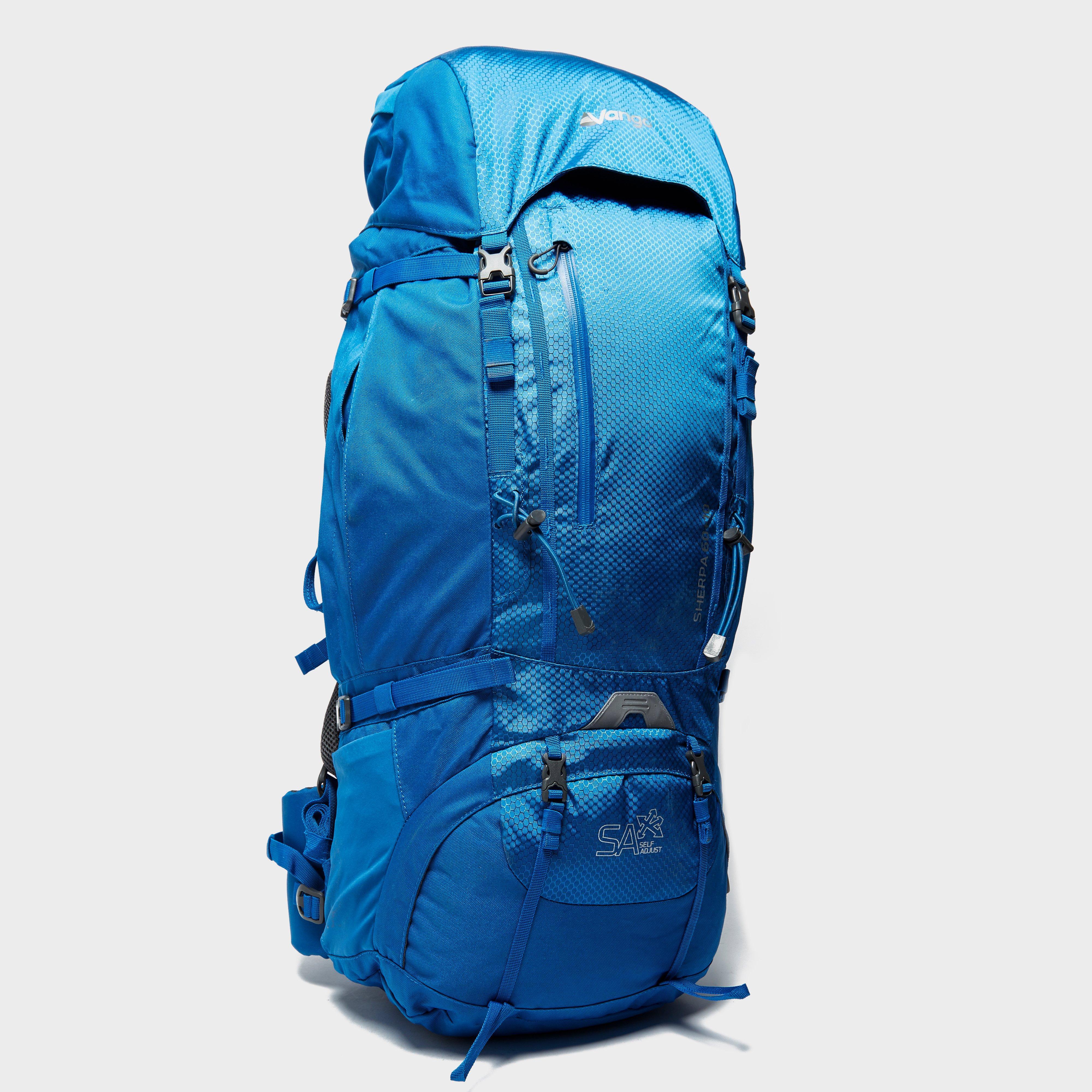 49882a0b2cb7 Blue Vango Sherpa 60+10 Rucksack