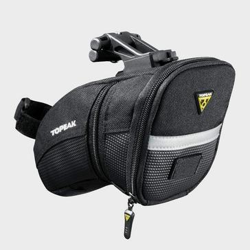 Black Topeak Aero Wedge Quick Clip Saddle Bag (Medium)