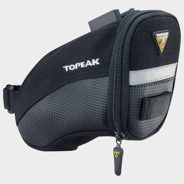 Black Topeak Aero Wedge Quick Clip Saddle Bag
