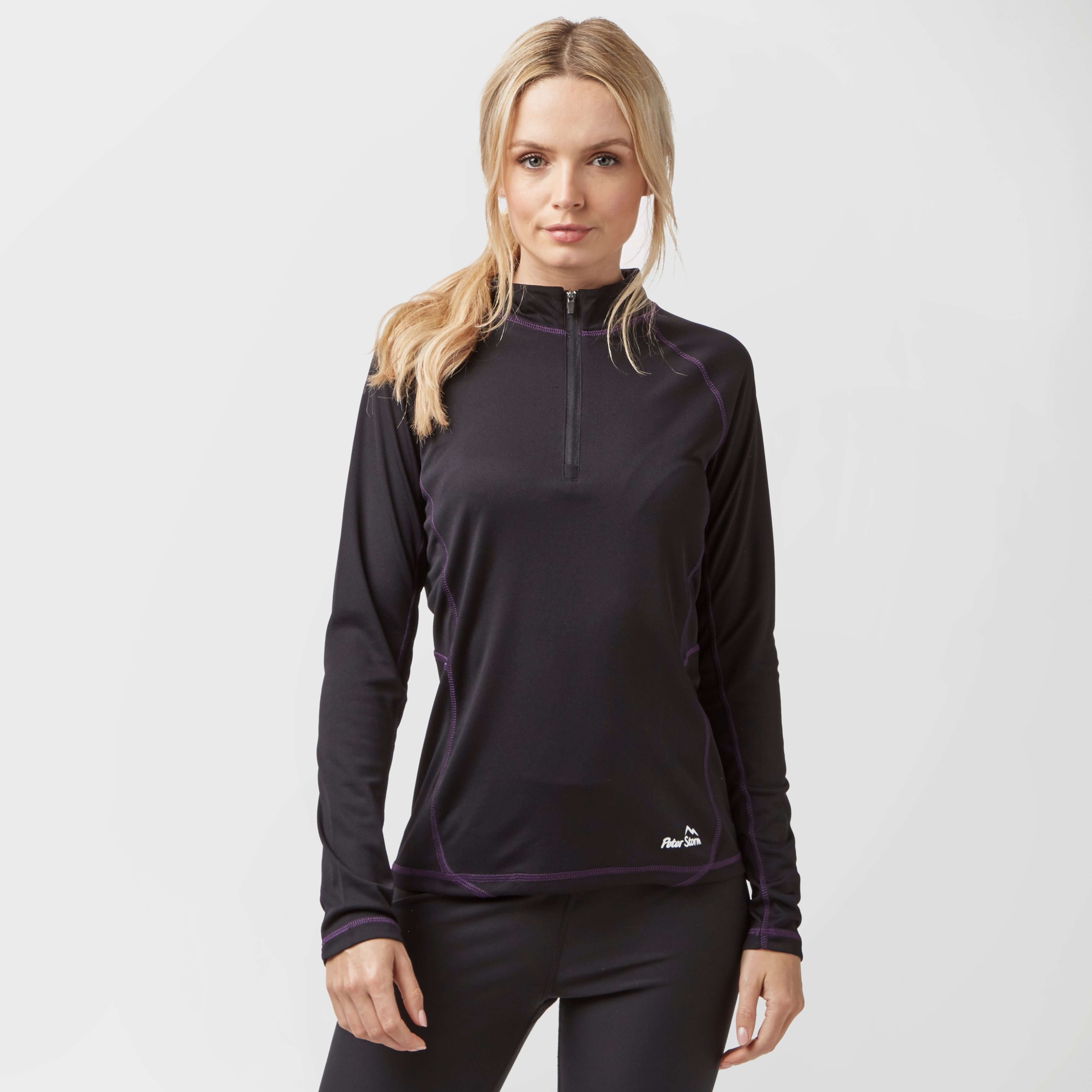 PETER STORM Women's Long Sleeve Quarter-Zip Tech Top