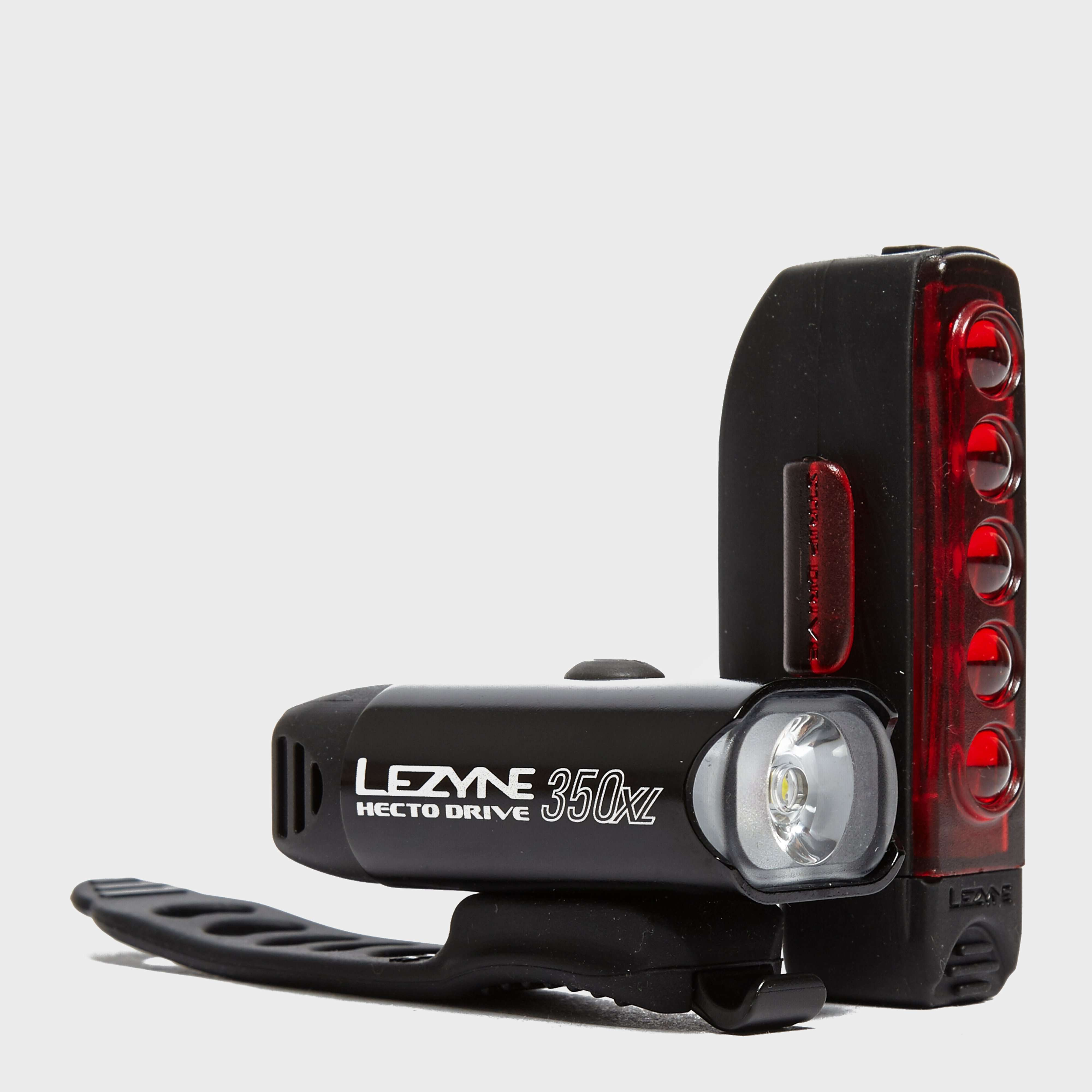 LEZYNE Hecto Drive 350 XL Bike Light with Strip Drive Rear