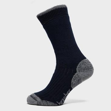 Navy Brasher Men's Hiker Crew Socks