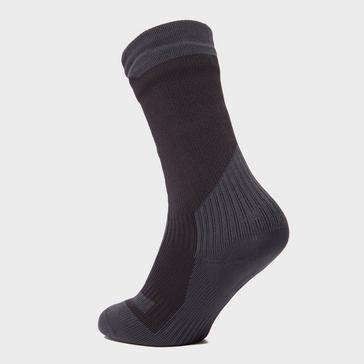Black Sealskinz Men's Trek Mid Length Socks