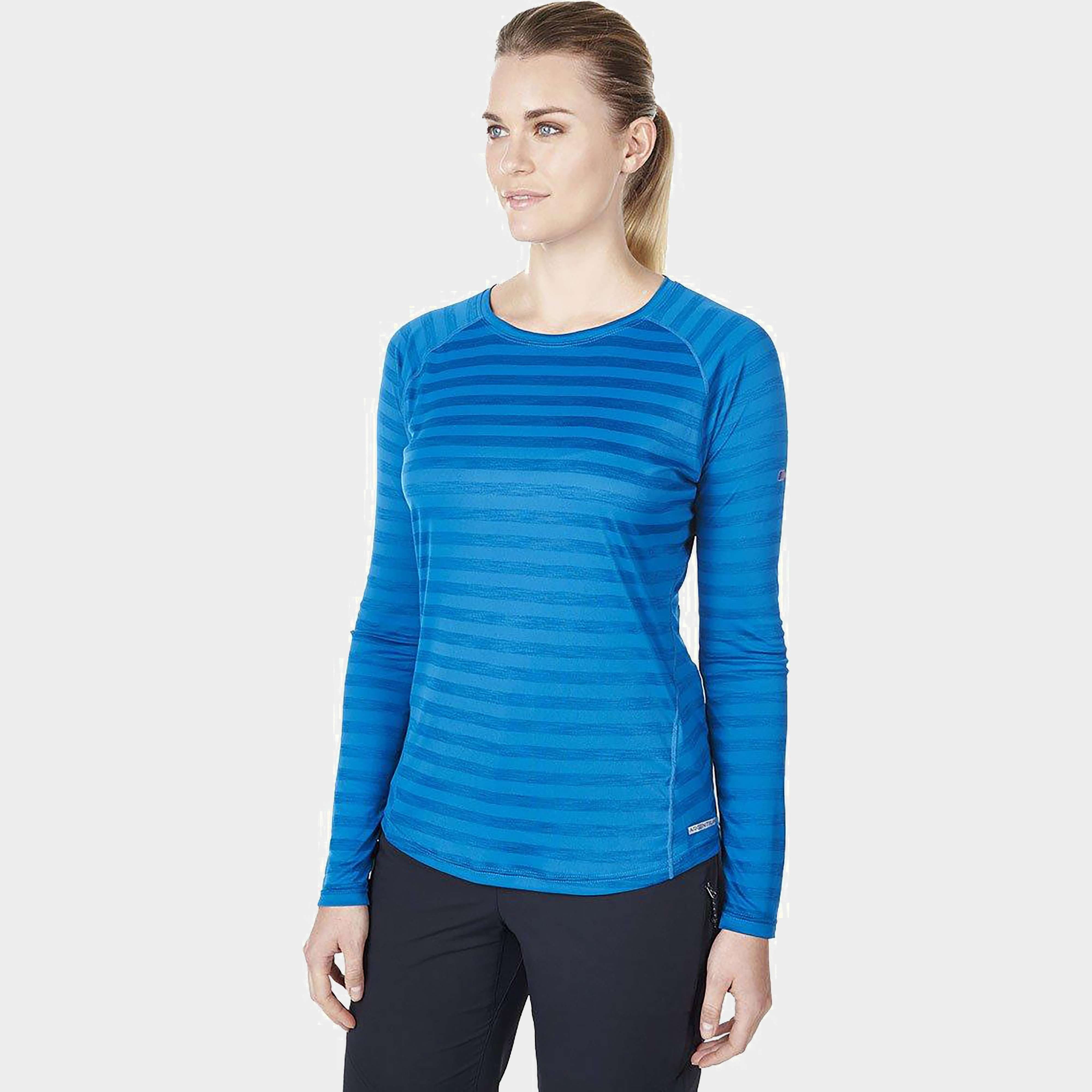 BERGHAUS Women's Striped Tech Long Sleeve T-Shirt