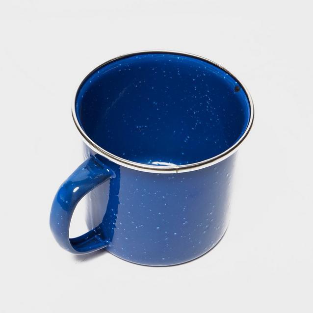 HIGHLANDER DELUXE ENAMEL CAMPING MUG STAINLESS STEEL TRAVEL DRINKING CUP BLACK