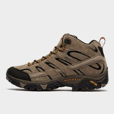 Brown Merrell Men's Moab 2 Mid GORE-TEX® Walking Boot