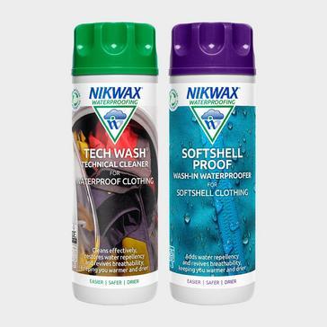 Green Nikwax Tech Wash & Softshell Proofer Twin Pack 300ml