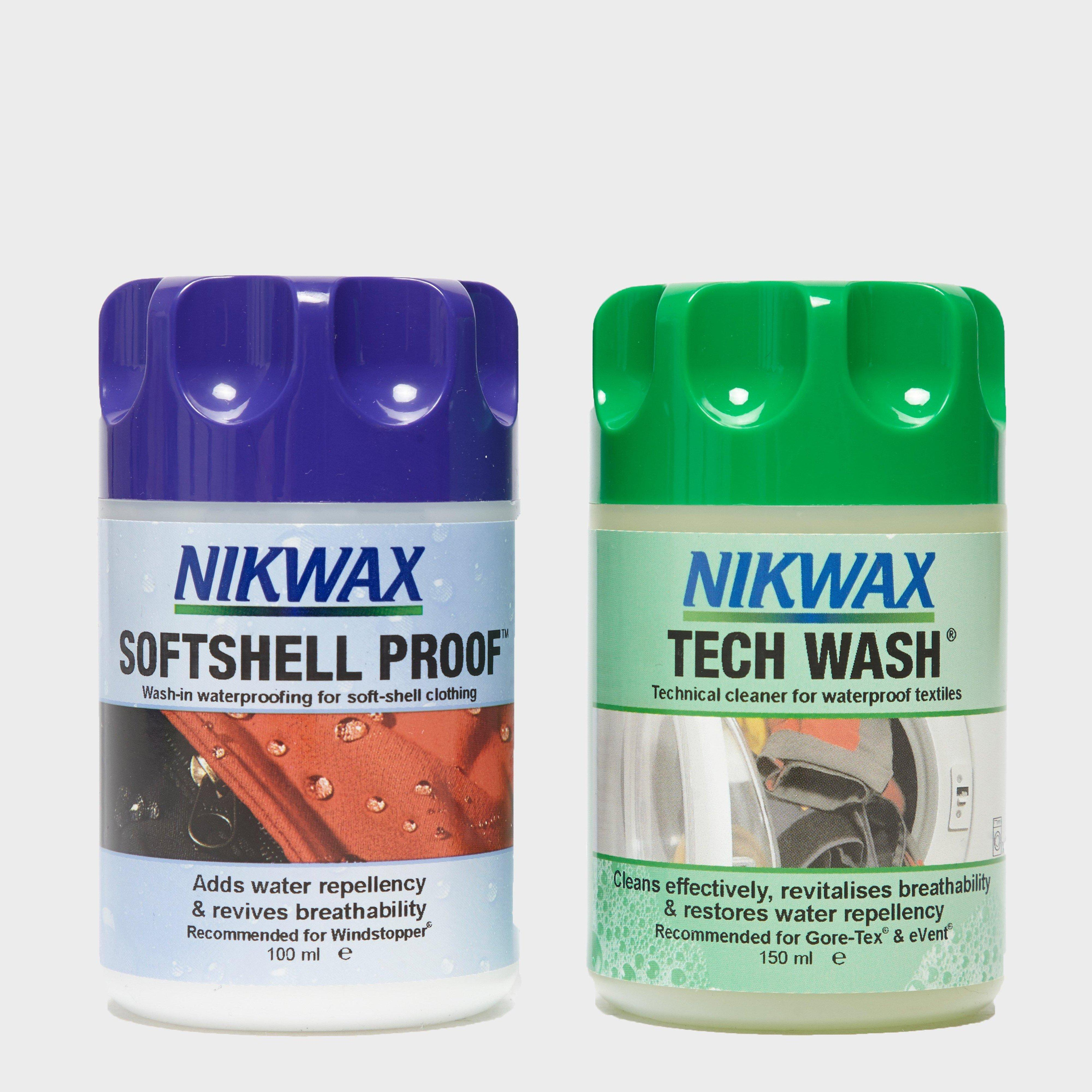 Image of Nikwax Softshell Proof And Tech Wash Wash-In Twin Pack - Multi, Multi