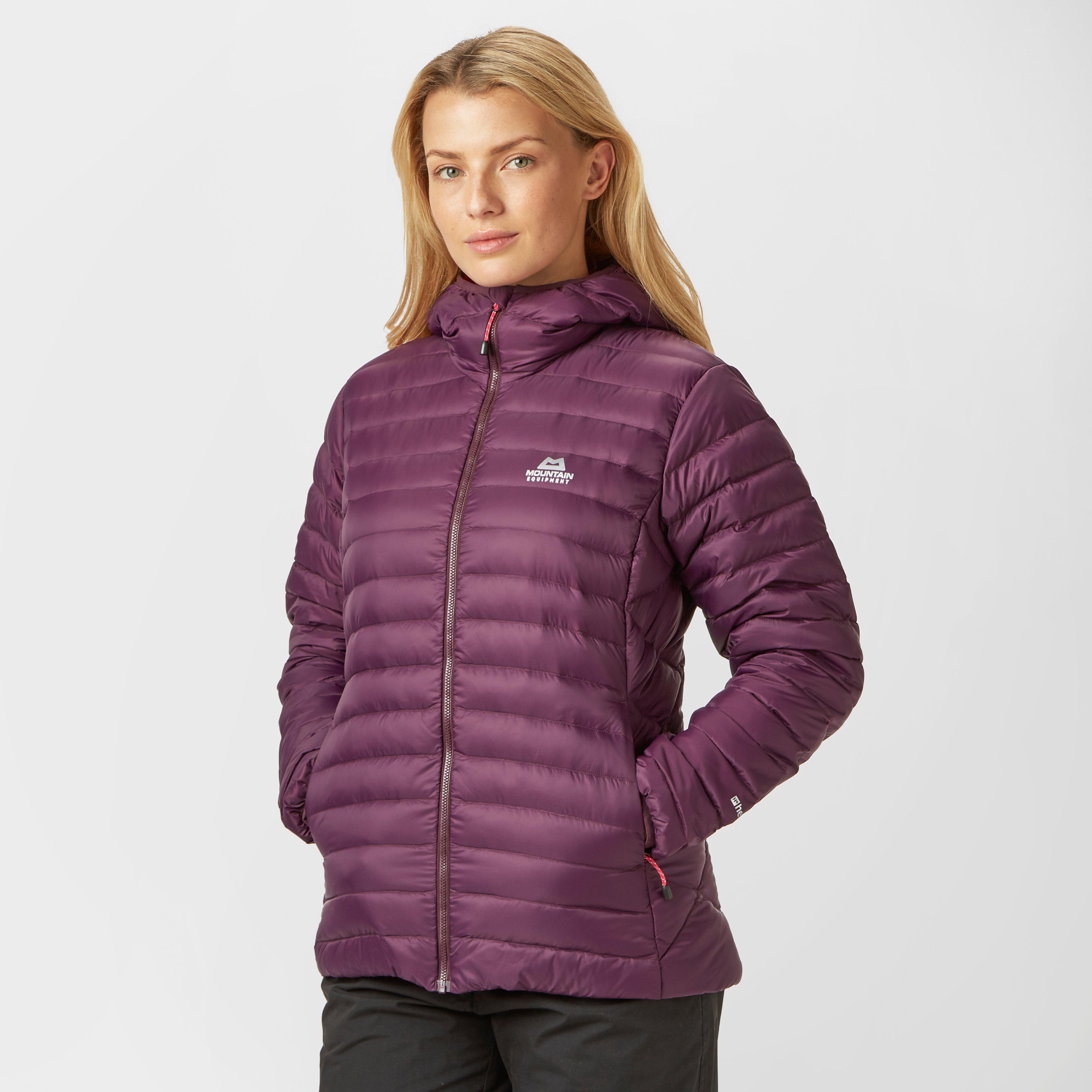 Mountain Equipment Mountain Equipment Womens Arete Hooded Down Jacket - Purple, Purple