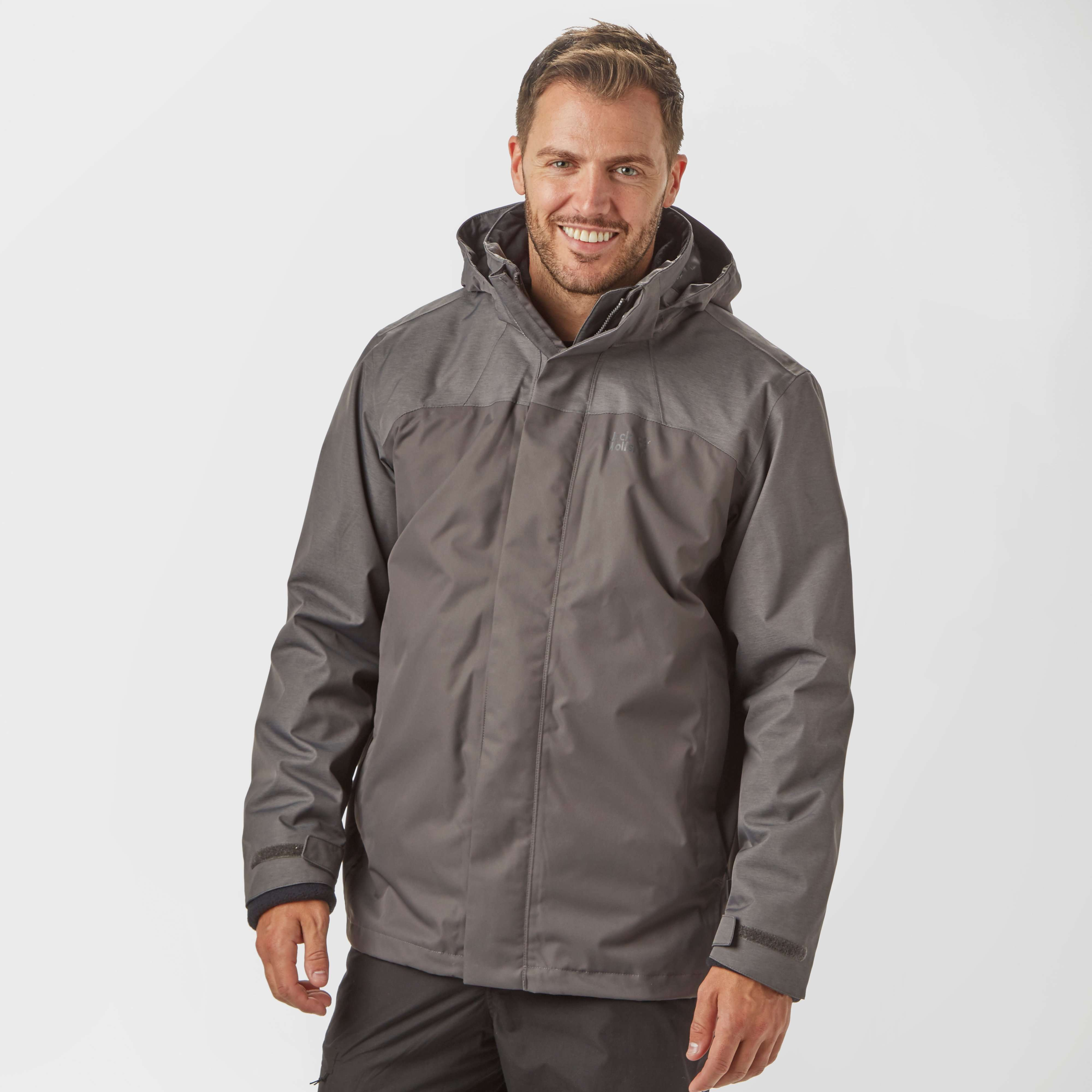 JACK WOLFSKIN Men's Echo Lake 3-in-1 Waterproof Jacket