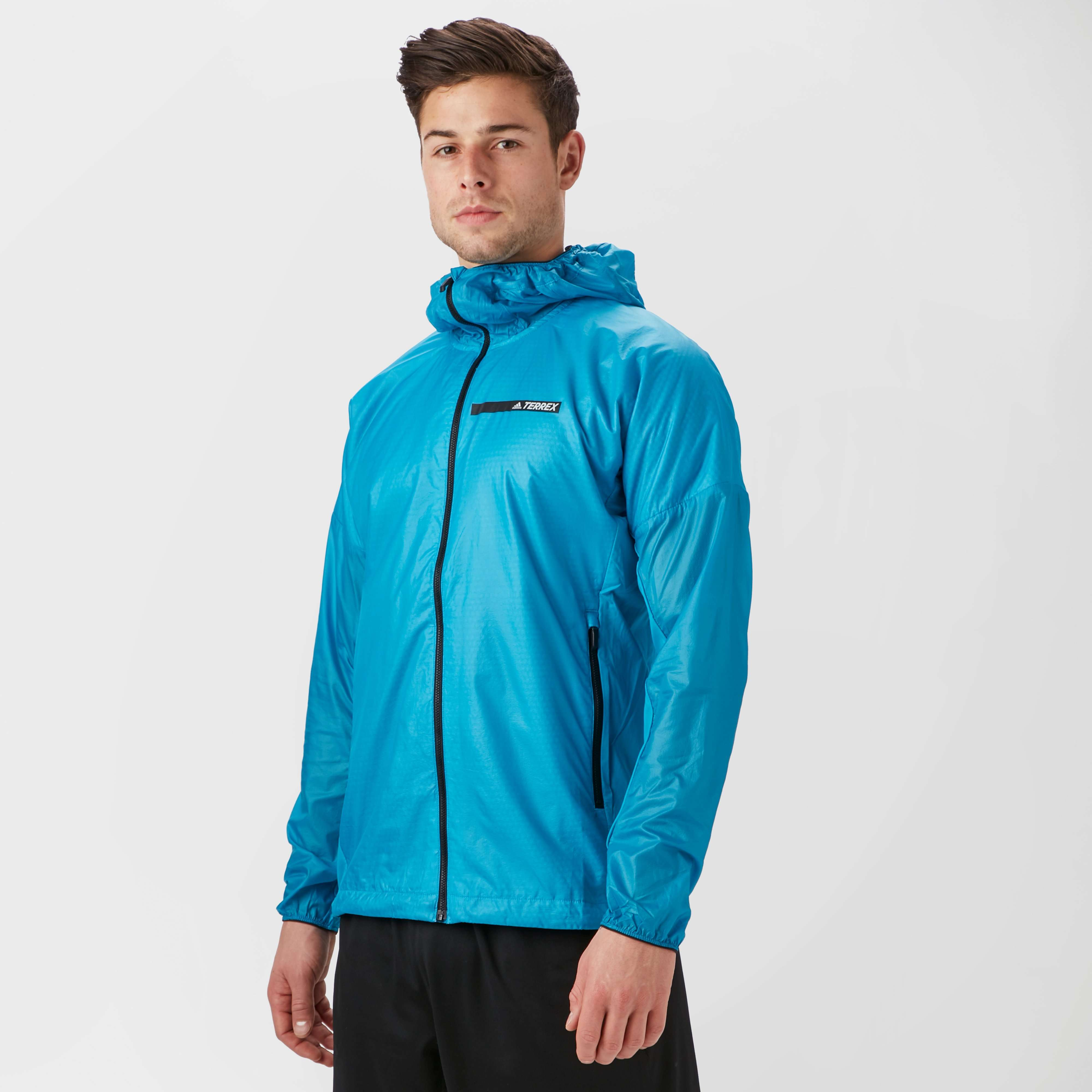 ADIDAS Men's Agravic Alpha Hooded Shield Windbreaker