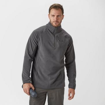 Dark Grey Peter Storm Men's Grid Half Zip Fleece