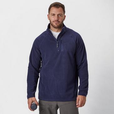 Navy Peter Storm Men's Grid Half Zip Fleece