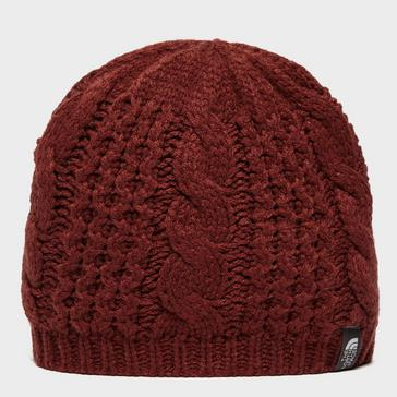 Red The North Face Women's Cable Minna Beanie