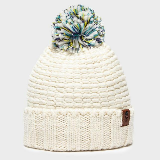ec369be23038d Cream THE NORTH FACE Women s Cosy Bobble Hat image 1