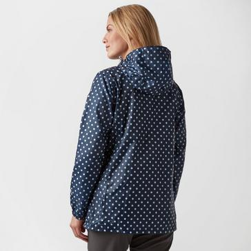 Navy Peter Storm Women's Patterned Packable Jacket