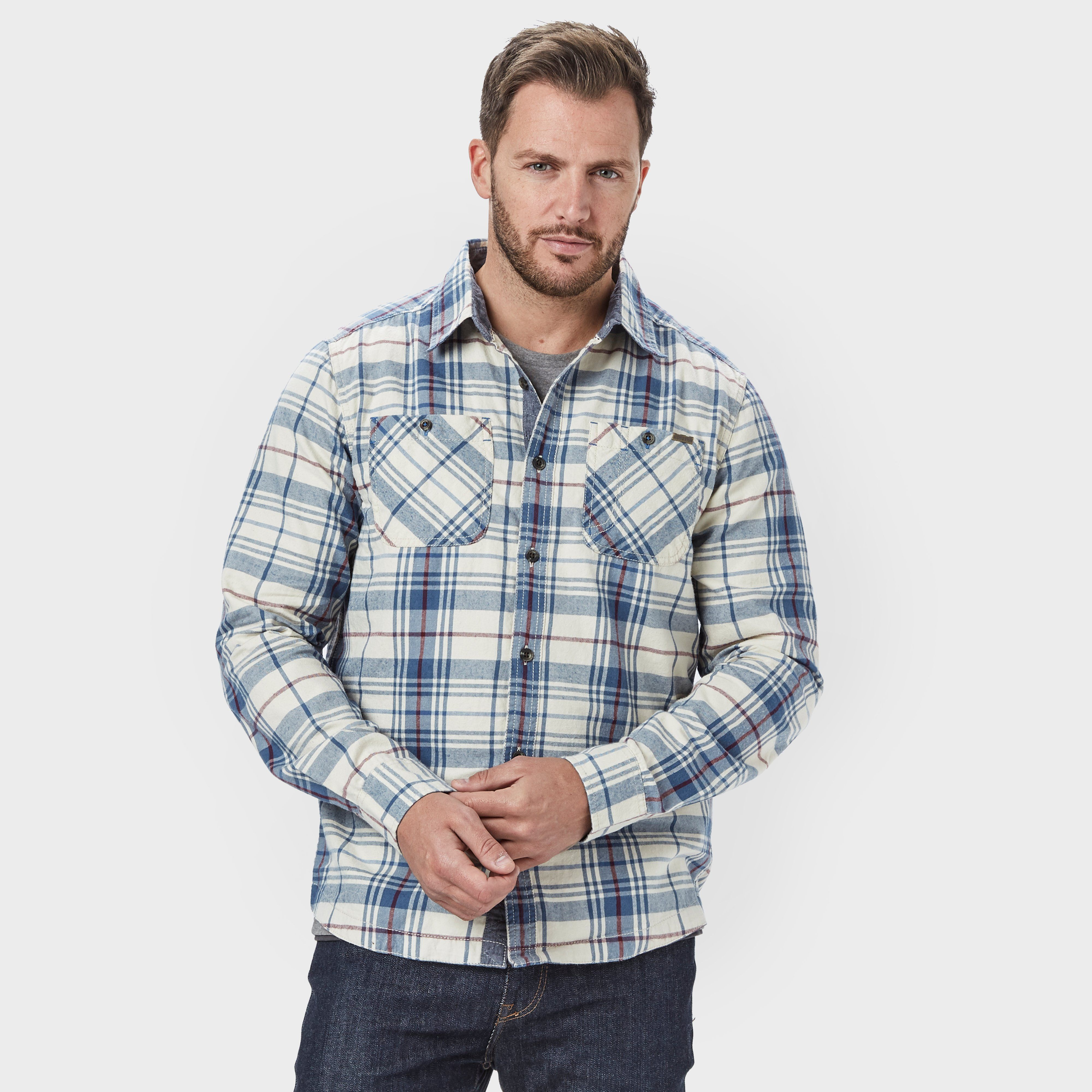 WEIRD FISH Men's Ezra Long Sleeve Shirt