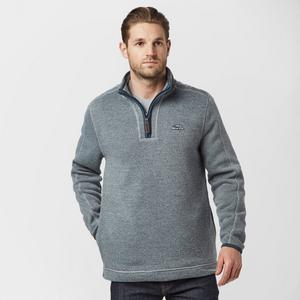 WEIRD FISH Men's Quarter Zip Knit Fleece