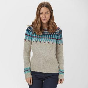 WEIRD FISH Women's Kara Fair Isle Jumper