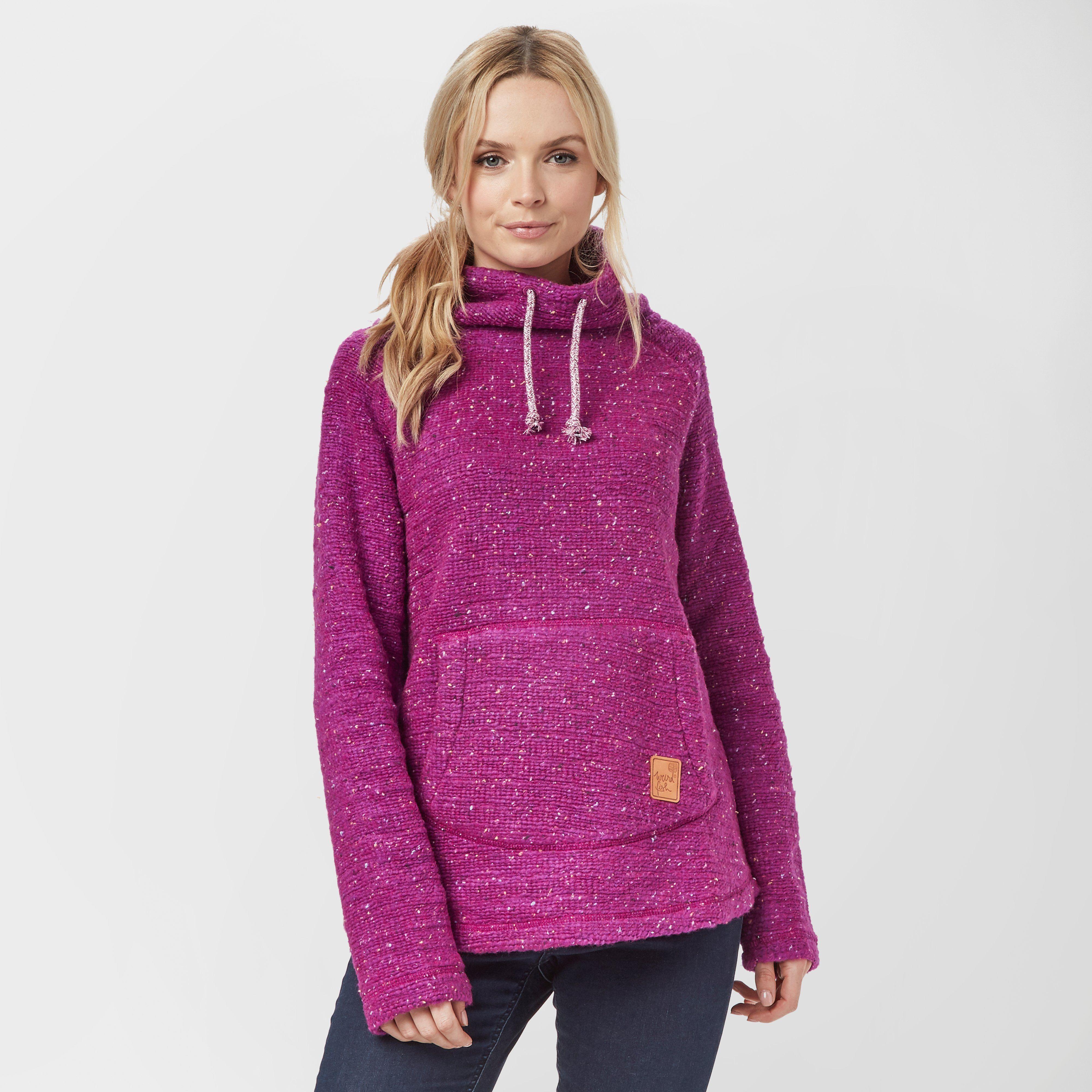WEIRD FISH Women's Roskilde Funnel Neck Knitted Fleece