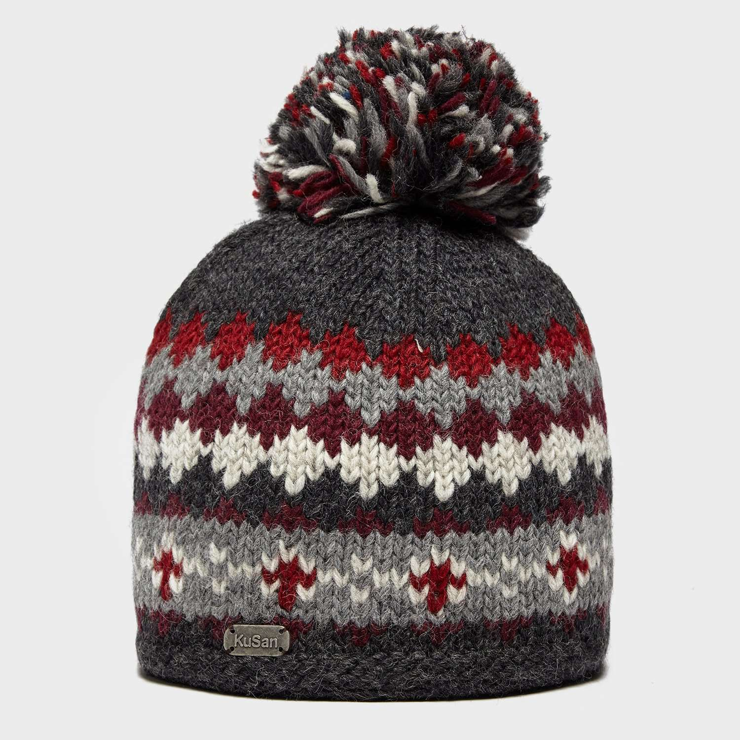 KUSAN Men's Fairisle Bobble Hat