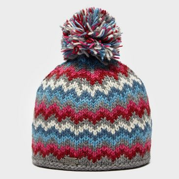 Bright Blue KUSAN Women s ZigZag Bobble Hat ... 30a05e066