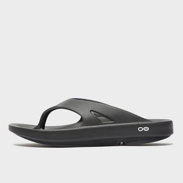 fa99e0360ed Black OOFOS Men s OOriginal Flip Flops