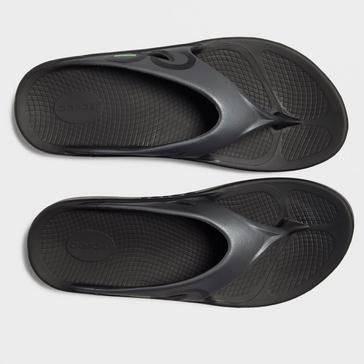 Black Oofos Men's OOriginal Sport Flip Flop