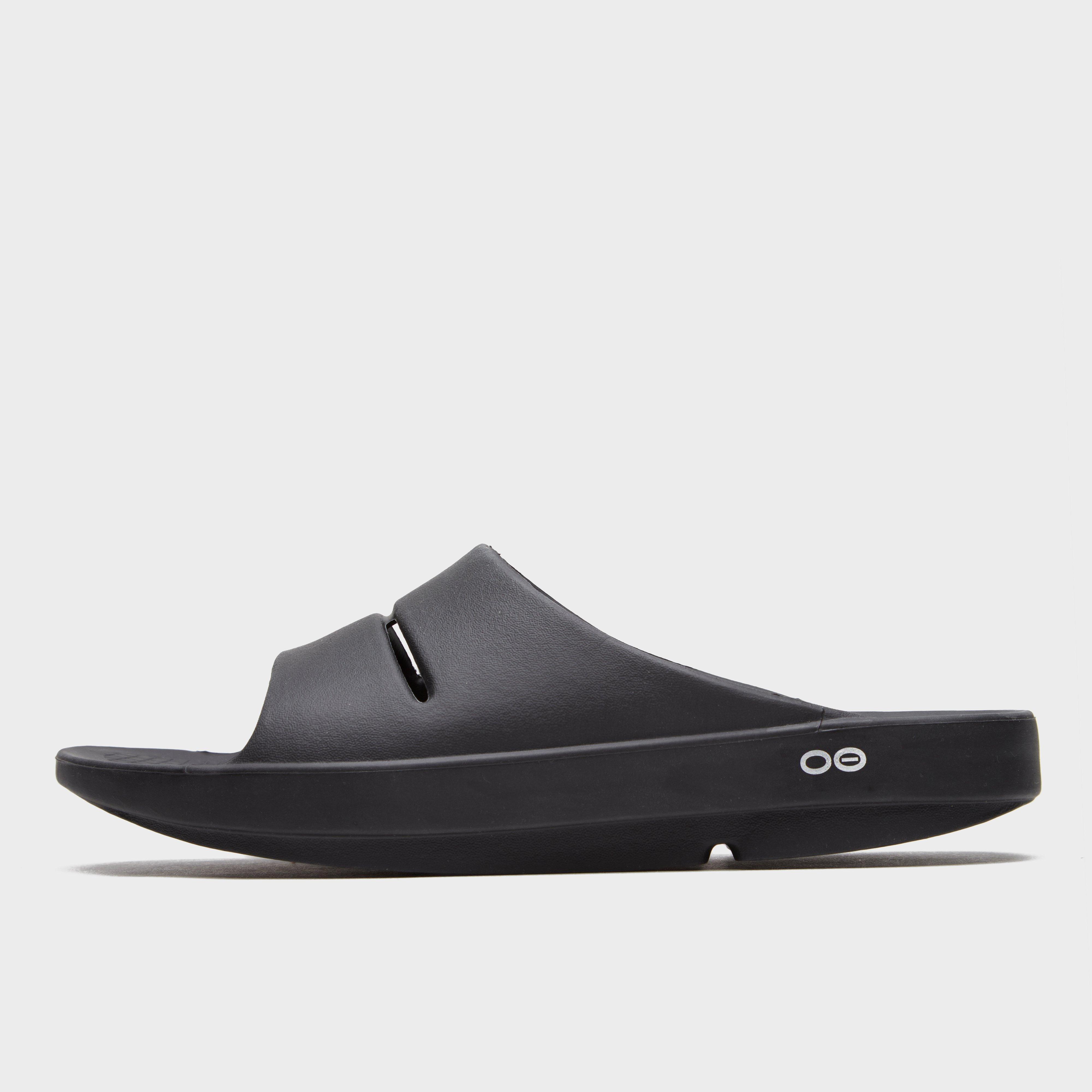 Oofos Oofos Mens OOahh Slides - Black, Black